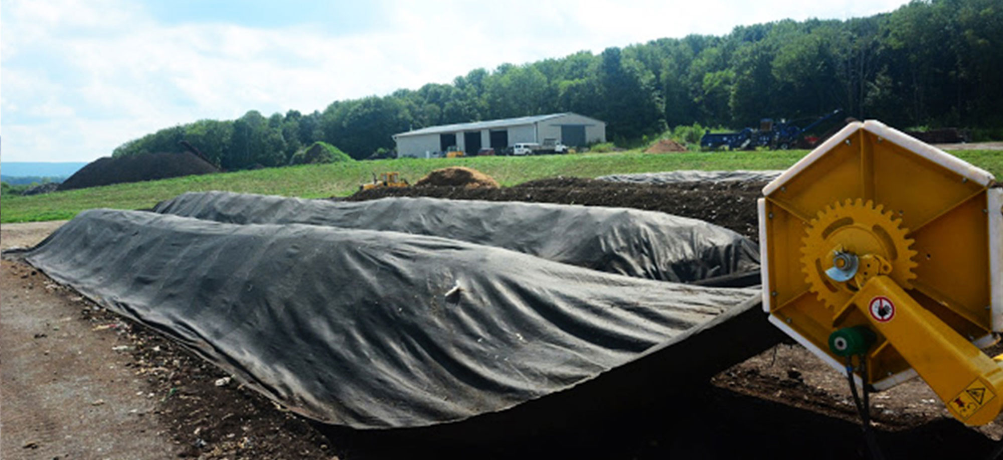 Compost Windrow Fleece Cover