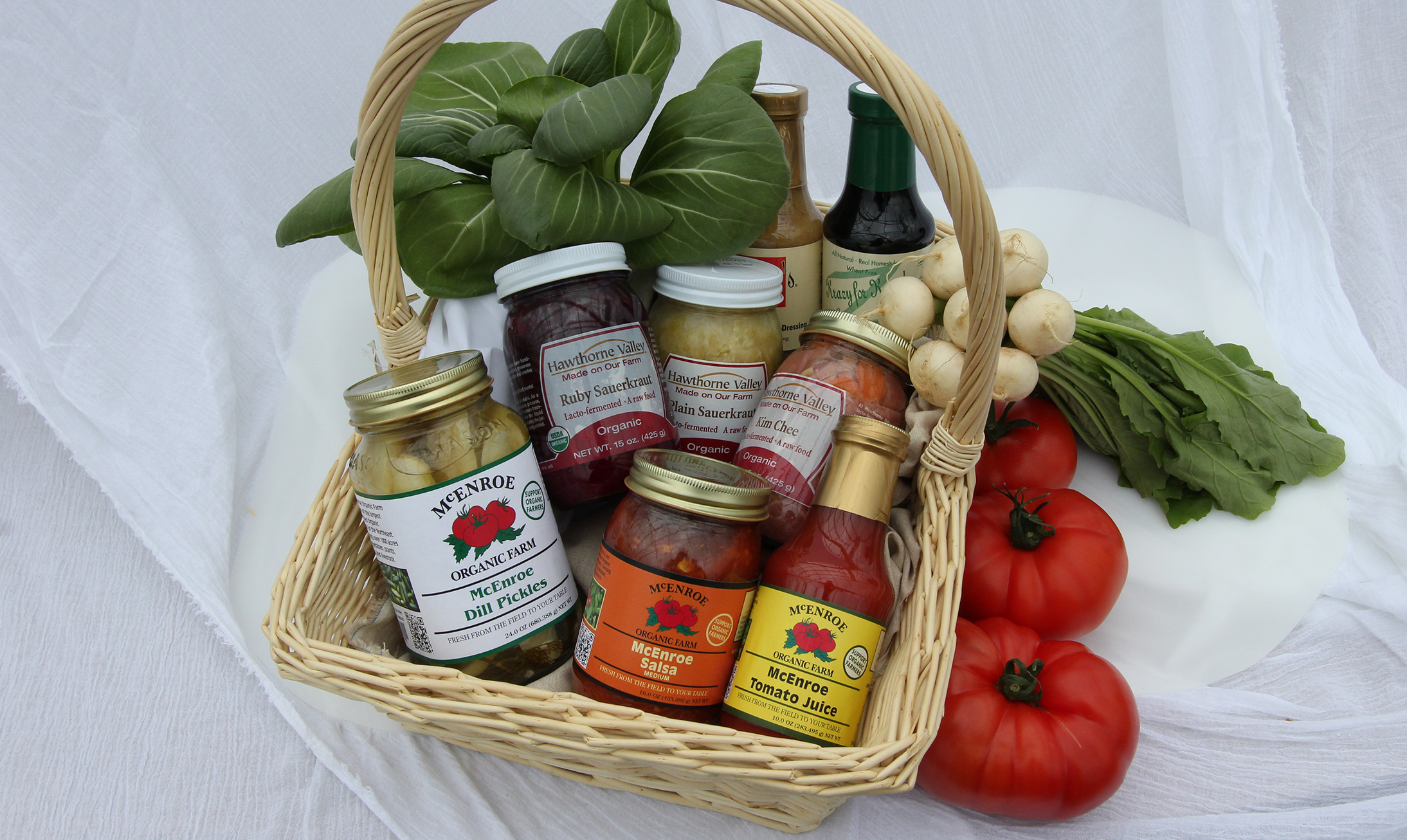 We Offer a Wide Selection of Organic and Regional Products