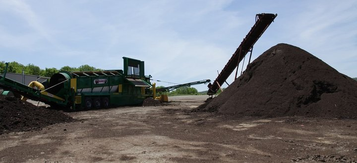 After the Compost is Completely Cured It is Screened to Remove Contaminants